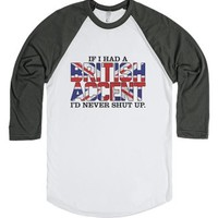 If I Had a British Accent (Baseball)-Unisex White/Asphalt T-Shirt