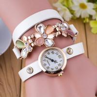 Plum Blossom Crystal Bracelet Watch