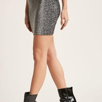 Motel Glitter Mini Skirt