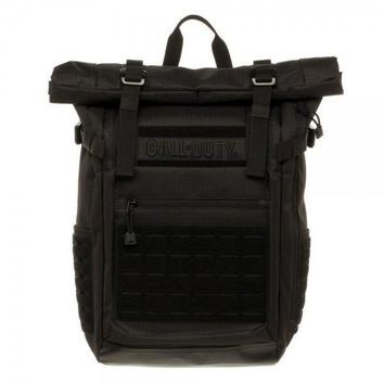 MPBP Call of Duty Black Military Roll Top Backpack w/ Laser Cuts