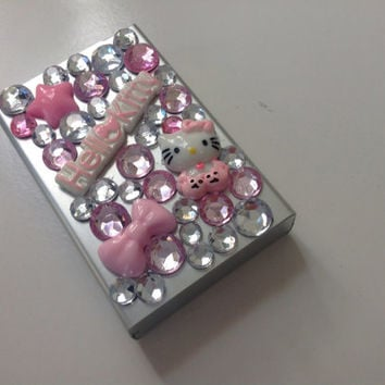 Pink Jeweled Cigarette Case