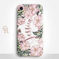 Personalised Floral Phone Case For iPhone 8 iPhone 8 Plus iPhone X Phone 7 Plus iPhone 6 iPhone 6S  iPhone SE Samsung S8 iPhone 5 custom