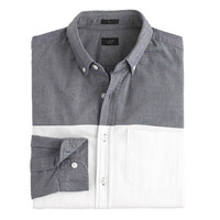 J.Crew Mens Slim Vintage Oxford Shirt In Colorblock