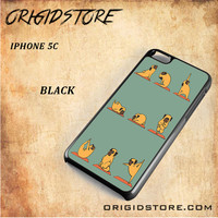 Pug Yoga For Iphone 5C Case Gift Present - Multiple Choice Material