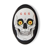 666 Metal Skull Big Button