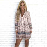 Lola Print Shift Dress