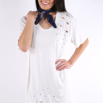 Tell Me About It Tunic - Ivory