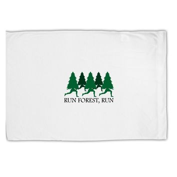 Run Forest Run Funny Standard Size Polyester Pillow Case by TooLoud