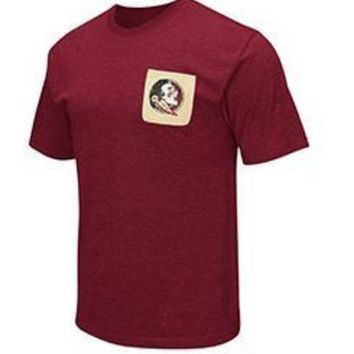 ONETOW NCAA Florida State Seminoles Mens Banya Pocket T-Shirt