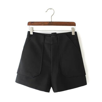 Women's Fashion Stylish With Pocket Casual Shorts [4919623236]