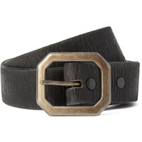 RRL - Burlington 3cm Black Distressed Leather Belt | MR PORTER