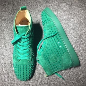 Cl Christian Louboutin Louis Spikes Style #1818 Sneakers Fashion Shoes