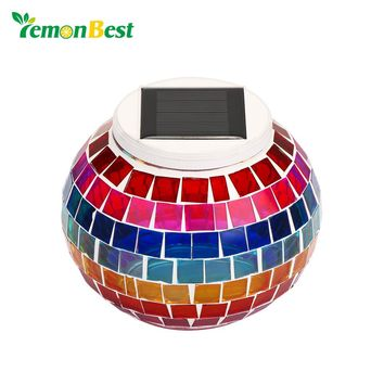 IP65 Waterproof Glass Ball LED RGB Solar Garden Lights for Landscape Lawn Holiday Christmas Party Decoration Outdoor Lighting