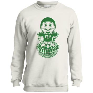Philly Football Bobblehead Youth Crewneck Sweatshirt