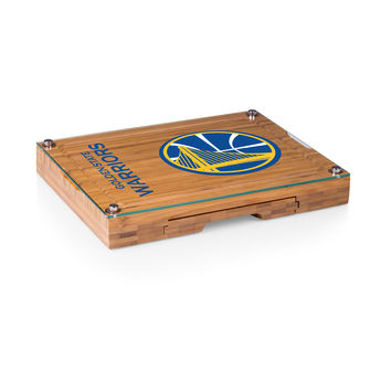 Golden State Warriors - 'Concerto' Glass Top Cheese Board & Tools Set by Picnic Time