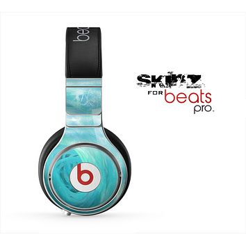 The Subtle Teal Watercolor Skin for the Beats by Dre Pro Headphones