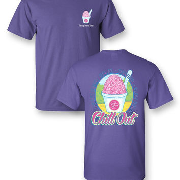 Sassy Frass Chill Out Relax Unwind Snow Cone Summer Girlie Bright T Shirt