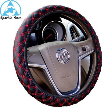 DIY Plush Car Steering Wheel Cover black gray beige brown yellow steering wheel hubs fur wheel cover Free shipping