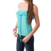 Polka Dot Ruffled Tube Top