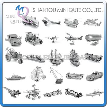Piece Fun 3D Laser Cut DIY Assembly Models Metal Puzzle Ford Model T Mustang Titanic Mars Probe USS Adult kids educational toy