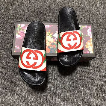 GUCCI Slippers Casual Fashion Summer Vacation Ocean Holiday Wear