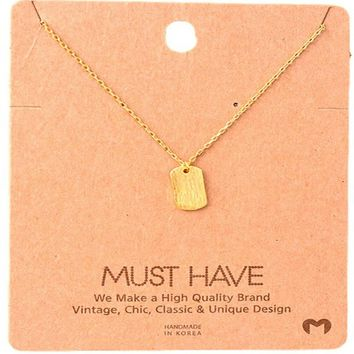 Must Have-Tag Necklace, Gold