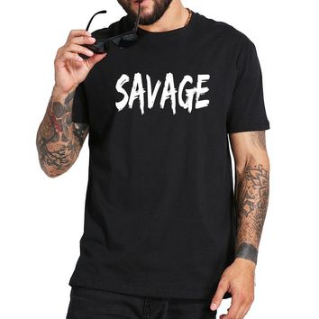Mayma Brand Savage tshirt Men Rap Boy Music White Shirt Breathable Cotton Summer Hipster Tee Top Standard US Size