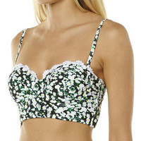 ALL ABOUT EVE DAISY FLORAL BUSTIER SEPARATE TOP - DAISY FLORAL