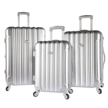 Kensie Metallic 3-piece Expandable Hardside Spinner Luggage Set - 20095965 - Overstock - Great Deals on kensie Three-piece Sets - Mobile