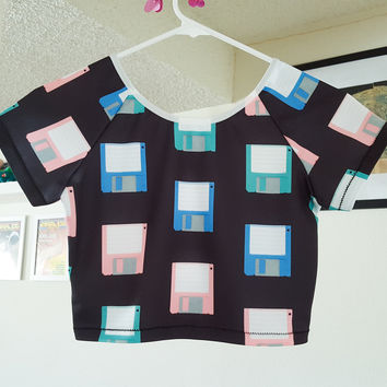 DISKETTE crop top