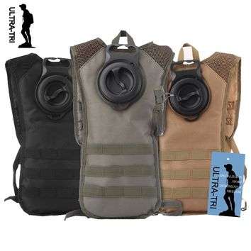ULTRA-TRI 2.5L Military Tactical Molle Hydration Pack Water Bladder Vest BPA Free Portable for Hiking Cycling Outdoor Sports