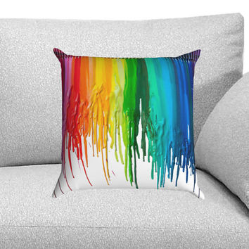 Crayon Melted Custom Pillow Case for One Side and Two Side