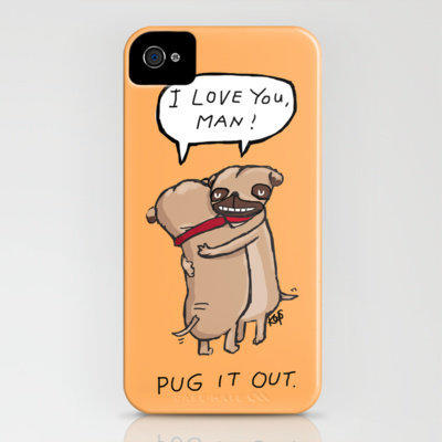 Pug It Out iPhone Case by Dale Keys | Society6