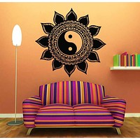 Mandala Wall Sticker Home Decal Buddha Yin Yang Floral Yoga Meditation Vinyl Decal Wall Art Mural Home Decor Decoration mural