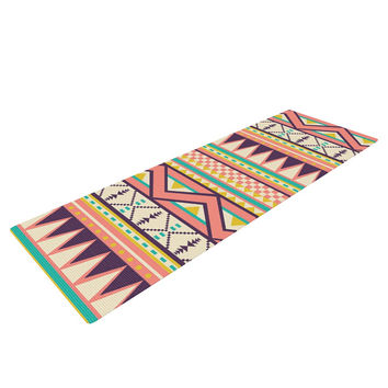 "Louise Machado ""Ethnic Love"" Tribal Geometric Yoga Mat"