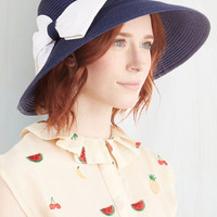 ModCloth Nautical As a Hatter of Fact Hat in Navy