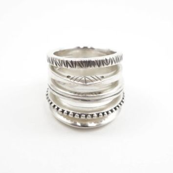 Gogo Ring - Sterling silver five-band cage ring