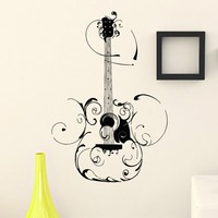 Wall Decal Vinyl Sticker Music Guitar Decor Sb394