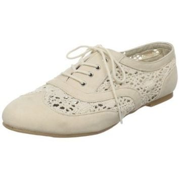Powder Blue Women's Neat Lace-Up Oxford - designer shoes, handbags, jewelry, watches, and fashion accessories | endless.com
