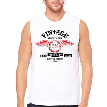 Vintage Perfectly Aged 1989 Muscle Tank