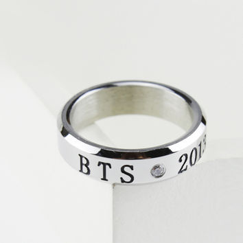 Korean Kpop Fan BTS Bangtan Boys Ring Bulletproof Boy Scouts Jewelry Unisex