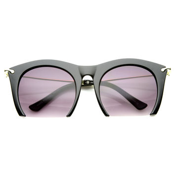SMOOTH CUTTER HALF FRAME SUNGLASSES