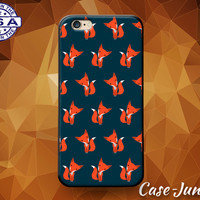 Fox Cartoon Pattern Cute Animal Tumblr Orange Custom Case For iPhone 4/4s and iPhone 5/5s/5c and iPhone 6 and 6+, iPhone 6s, iPhone 6s Plus