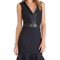 LaPina by David Helwani Lila Dress in Navy