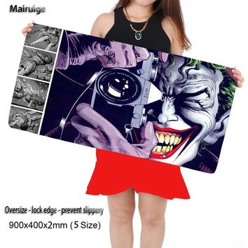 Mairuige Shop Killing Joke Large Game Gaming Mouse Pad 900*400 DIY Picture with Edge Locking Mouse Mat for CSGO Dota 2 LOL Gamer