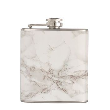 Marble Stone Vinyl Wrapped Flask
