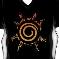 Naruto Kyuubi Seal (Orange Gradient) V-Neck
