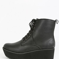 Lace Up Platform Creeper Boots | MakeMeChic.com