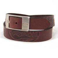 Florida Gators NCAA Men's Embossed Leather Belt