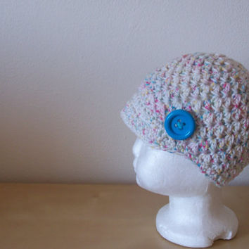 baby girl clothing, toddler crochet hat, girl beanie